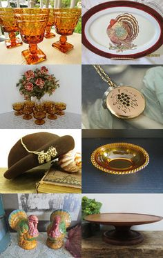 Shades of Amber and Brown for Fall by Janet on Etsy--Pinned with TreasuryPin.com
