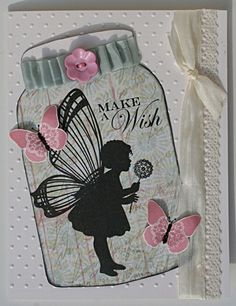 The Craft's Meow Card by Melisa Waldorf - Cards and Paper Crafts at Splitcoaststampers. (Stamps : The Crafts Meow Butterfly Kisses). Cricut Cards, Stampin Up Cards, Mason Jar Cards, Mason Jars, Butterfly Cards, Butterfly Kisses, Artist Trading Cards, Planner, Love Cards