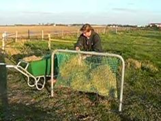 """homemade slow-feeder """"hay-net"""" for turnout"""