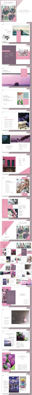 Pink Flower - Magazine Template. Magazine Templates