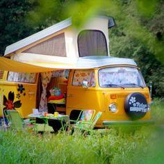 VW Camer van bus kombi - Europe in a vintage campervan.
