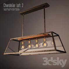 3d models: Ceiling light - Chandelier loft -2