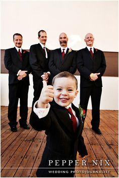 ring bearer with groomsmen