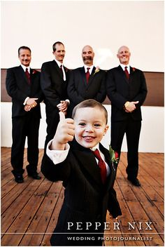 ring bearer with groomsmen