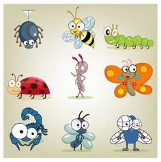 Googly Eyed Insects: Googly Eyed Insects is free Vector Animal that you can download for free, file in AI, EPS & CDR formats. Vector Animal material suitable for Animal Design material. Download Googly Eyed Insects on Multigfx.com today. Adobe Illustrator ai ( .AI ), Encapsulated PostScript eps ( .EPS )