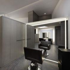 미용실 인테리어 스투디오올라 Salon Lighting, Hair Shop, Beauty Studio, News Studio, Store Design, Barber Shop, Interior Design, Table, Inspiration