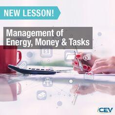 New Business & Marketing Lesson - Management of Energy, Money & Tasks