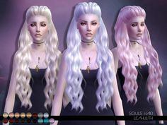 The Sims 4 LeahLillith Souls Hair Sims 4 Cas, Sims 1, Soul Hair, The Sims 4 Cabelos, Pelo Sims, Sims 4 Gameplay, Sims 4 Collections, The Sims 4 Download, Sims 4 Update