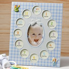 Baby Boys First Year Collage Frames In Blue - My First Year - 12523