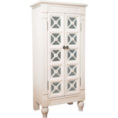Featuring eye-catching mirrored design in a crisp white hue, this ornate-yet-refined jewelry armoire makes a sophisticated statement in your master suite. Hives And Honey, Computer Armoire, Glam Bedroom, Master Bedroom, Musical Jewelry Box, Black Gold Jewelry, Jewelry Armoire, Jewelry Organization, Storage Spaces