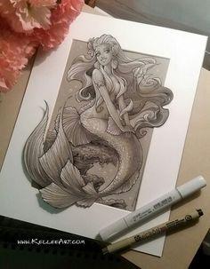 Mermaids by kelleeart by deviantart