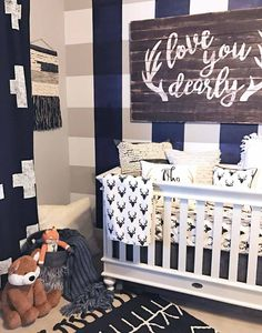 40 süße Babyzimmer-Themen Design-Ideen - Nursery themes - Best Picture For boy nurseries paint For Your Taste You are looking for something, and i Boho Nursery, Nursery Room, Girl Nursery, Rustic Nursery Boy, Woodland Nursery, Nursery Layout, Nursery School, Nursery Decor, Baby Room Boy