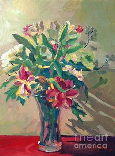 The happy colors of Spring! An acrylic painting by David Lloyd Glover