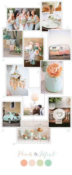 Peach and Mint Wedding Inspiration via One Hitched Lane
