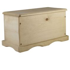 ArtMinds® Large Storage Chest  This unfinished wood chest is a great addition for your storage needs. The unfinished white pine is perfect to accept paint or stain, so it can be decorated however your heart desires. It will last a lifetime and also be a perfect heritage piece for your family.