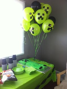 Birthday Party Minecraft Style!!