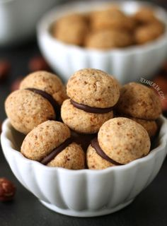 Baci di dama Italian Cookies from texanerin.com – can be made gluten-free, whole wheat or with all-purpose flour!