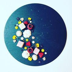 Turkish delight served with rose gel, mango-passion gel, litchi purée, mangustin, litchi, citron caviar and cherries. #instafood #TheArtOfPlating #foodporn #foodstagram #yum #kitchen #chef #chefstalk #chefsroll #foodphotography #gastroart #foodart #expert