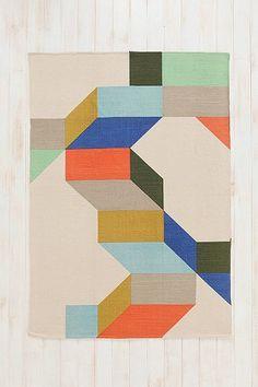 Complex Colorblock Rug #coloreveryday