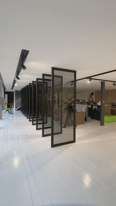 Corporate Office Design, Modern Office Design, Modern Office Spaces, Showroom Interior Design, Interior Architecture, Window Design, Door Design, Movable Walls, House Staircase