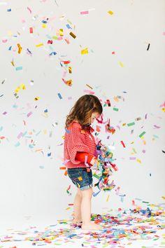Children's Birthday Party Idea: Fluttering Confetti Cannon