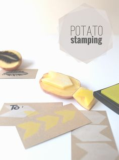 potato stamping | MontgomeryFest - love this cute, easy craft project by @Annie Compean .