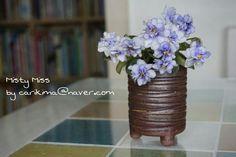 African Violet miniature - Misty Miss Saintpaulia, African Violet, Violets, Orchids, Glass Vase, Miniatures, Blue, Home Decor, Decoration Home