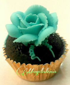 Chocolate cupcake topped with buttercream n ganache filling www.magdalenacupcakes.com www.facebook.com/magdalenacupcake