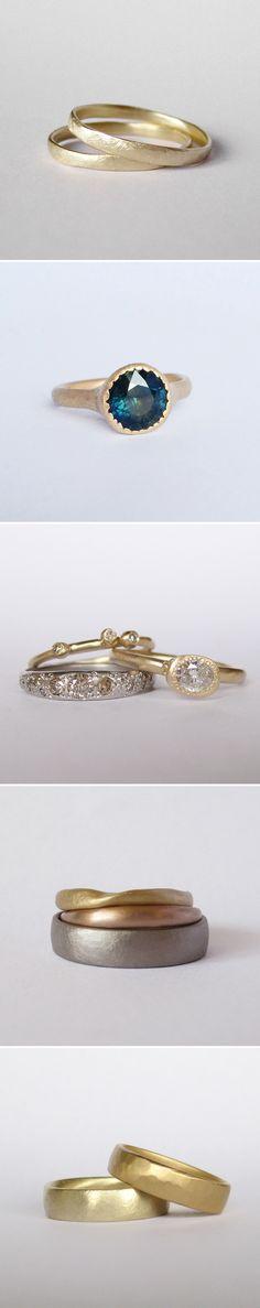 Unique handcrafted wedding and engagement rings by Melbourne jeweller Natalia Milosz-Piekarska