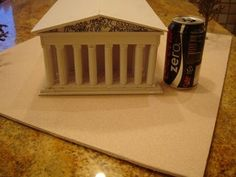 The Parthenon Athens Greece Model - Instructables Greek History, Ancient History, Ancient Rome, Ancient Greece, Ancient Greek Art, Ancient Greek Buildings, Greek Parthenon, Greece Party, Thinking Day