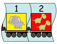Number train with numbers Fits together like a puzzle and can be used as an activity in a math center, or as a wall decoration. Instagram Prints, All Schools, Tot School, Math Games, Math Centers, Clipart, My Books, Preschool, Puzzle