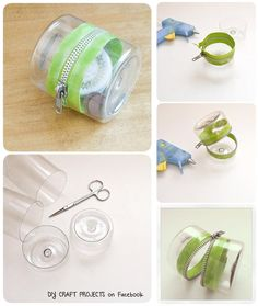 Upcycle Plastic bottles : Plastic-Bottle Zipper Container. || #DIY #Craft #tutorial #purse
