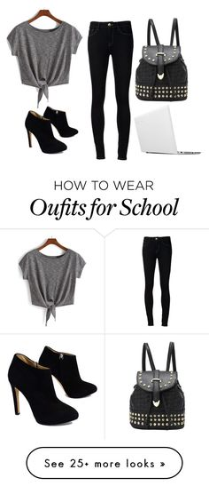 """School Style 5"" by nicoledodin on Polyvore featuring Ström, Giuseppe Zanotti and Lenovo"