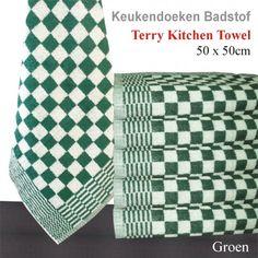 Keukenhanddoek - Groen - 50x50cm