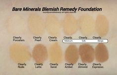 BareMinerals Blemish Foundation; Review & Swatches of Shades