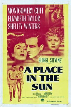 "A movie poster for 1951's ""A Place in the Sun"", Elizabeth Taylor's dramatic acting debut at the age of 17."