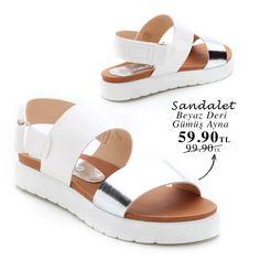 Beyaz Deri Gümüş Ayna Sandalet 59.90TL http://www.modsimo.com/evgf~u~beyaz-deri-gumus-ayna-sandalet-10494