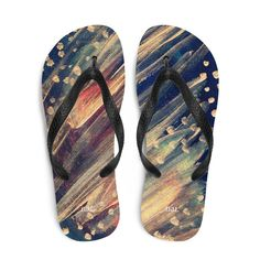 nat. dotting flip flops Summer On You, Summer Sunset, Us Man, Saturated Color, Carbon Footprint, Textile Prints, Black Rubber, Soft Fabrics, Party Wear