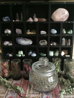 Eventually I'd love to have storage like this for my crystals