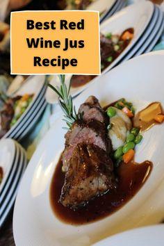 Beef Jus Recipe, Red Wine Au Jus Recipe, Lamb Gravy, Beef Gravy, French Dinner Menu, Red Wine Gravy, Best Red Wine, Dinner Club, Port Wine