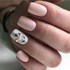 Elegant Nail Designs, Pretty Nail Designs, Short Nail Designs, Elegant Nails, Nail Art Designs, Swarovski Nail Crystals, Crystal Nails, Diamond Nail Designs, Diamond Nails