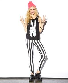 Peace Sign Muscle Tee | FOREVER21 What's your idea of world peace? #BlackAndWhite #Summer #Trend #Beanie #Stripes