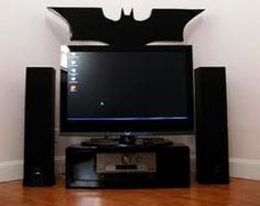 Batman entertainment center. If your visitor doesn't like the batman entertainment center, it's time for them to leave. Tv Sets, Batman Stuff, Flat Screen, Television, Television Tv, Tvs