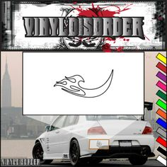 Twisted Ghost Flames Car Decal - Vinyl Decal - Wall Decal - CF266