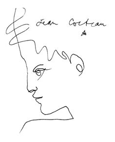 Jean Maurice Eugène Clément Cocteau, French poet, novelist, dramatist, designer, playwright, artist and filmmaker.