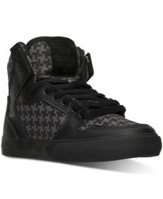afd4f97e4f Supra Boys  Vaider Casual Skate High Top Sneakers from Finish Line - Gray  4.5 Skate