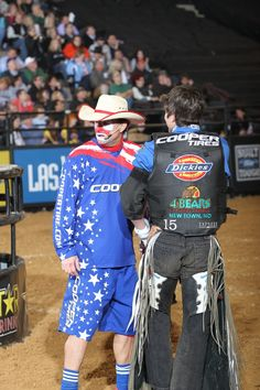 Dickies. Ryan Dirteater and Flint Rasmussen during the first round of the Baltimore Built Ford Tough series PBR. Photo by Andy Watson with BullStockmedia.com