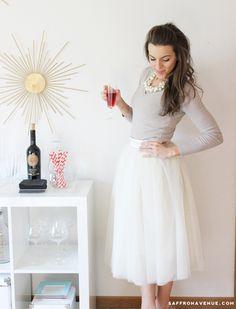 Tulle Skirt Style Post :: Bel  Beau Branding :: Saffron Avenue