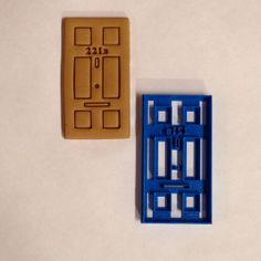 Sherlock cookie cutter 221B door by BoeTech on Etsy, $8.75