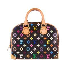 60997bb1f5a LOUIS VUITTON Black Canvas Multicolor Monogram Trouville Bag